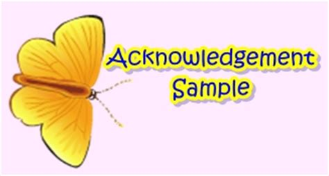 How to write acknowledgement for research